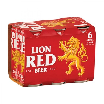 Lion Red 6PK 440ML Cans Lion Red 6PK 440ML Cans