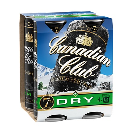 Canadian club Dry 7% 4pk cans 250ml Canadian club Dry 7% 4pk cans 250ml
