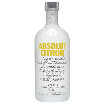 ABSOLUT RASPBERRY 700ml ABSOLUT CITRON 700ml