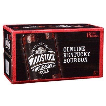 WOODSTOCK 5% 18PK 330 ML BTLS WOODSTOCK 5% 18PK 330 ML BTLS