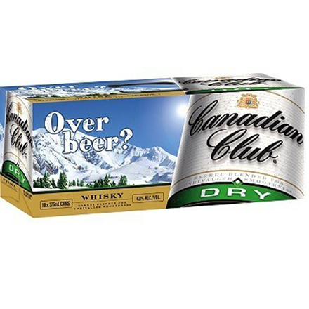 canadian club dry 10pk cans